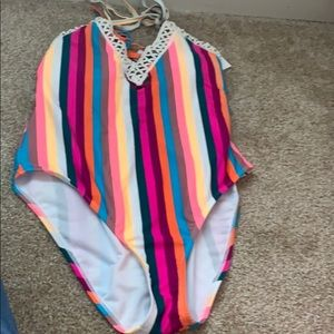 NWT Striped Swimsuit in Large